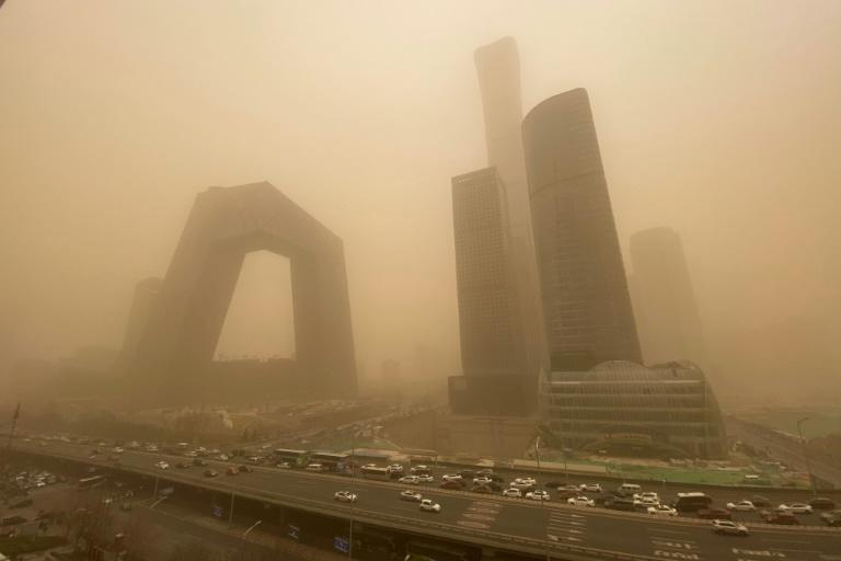 The poor air quality was due to a sandstorm from northern Mongolia, according to state media