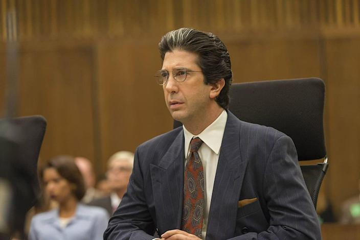 <p>When you think of David Schwimmer, your mind probably hops to Ross stuck in leather pants in a bathroom, or getting a ridiculous self-tan. But the funny star took on a heavy, not-funny role as Robert Kardashian (yup, that Kardashian) in <em>American Crime Story: The People vs. O.J. Simpson</em>. Schwimmer gave a *chef's kiss* performance, fully transforming himself into O.J.'s late defense attorney and almost made fans forget all about Ross...for a while.</p>