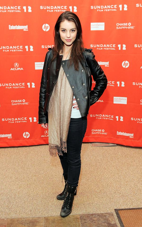 "PARK CITY, UT - JANUARY 24:  Actress Adelaide Kane attends the ""GOATS"" premiere during the 2012 Sundance Film Festival held at Eccles Center Theatre on January 24, 2012 in Park City, Utah.  (Photo by Jemal Countess/Getty Images)"