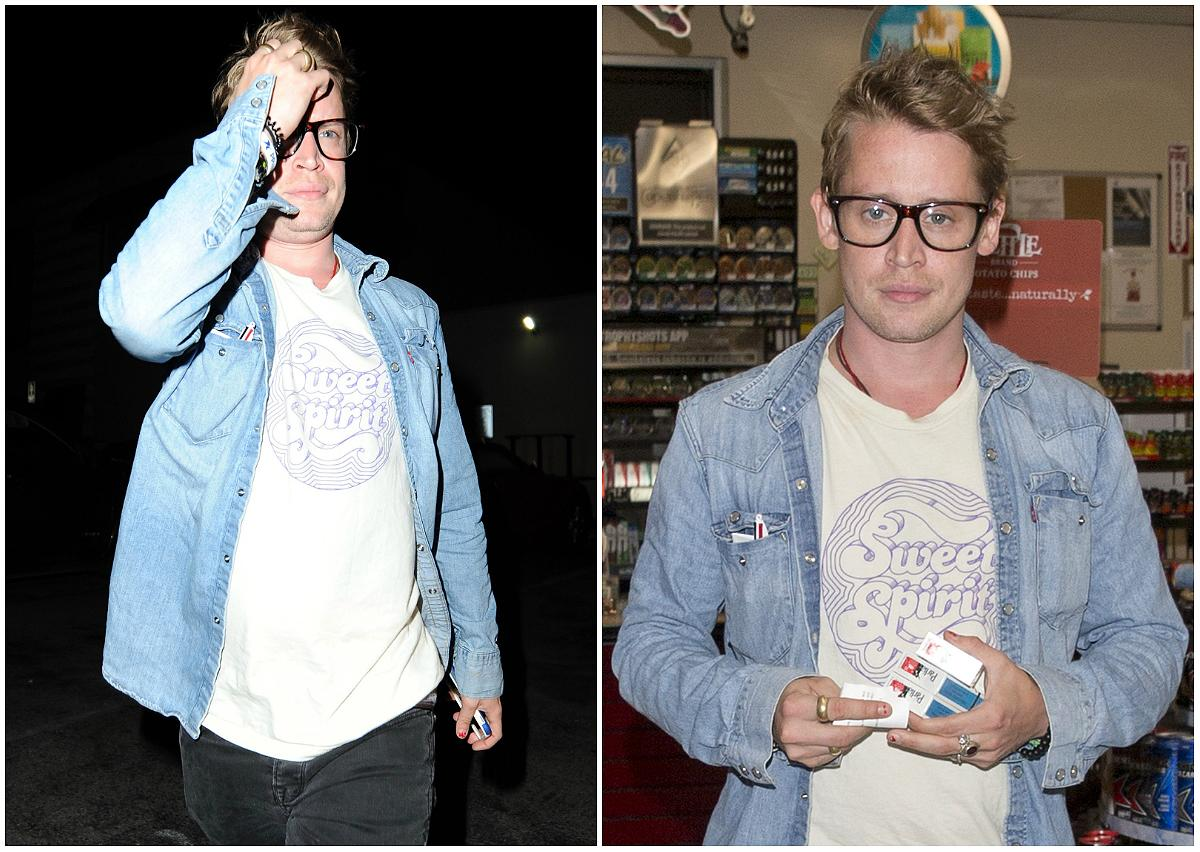 "<p><strong>When: July 23, July 24, 2017</strong><br />Macaulay Culkin was spotted out and about with 29-year-old actress (and rumoured girlfriend) Brenda Song at Craig's in Los Angeles on Sunday evening, and although the 36-year-old appeared a bit shy in front of the cameras, he looked a good 10 years younger with his new haircut.<br /> The ""Home Alone"" star has keep his natural blonde locks long and unruly throughout the years, so the fresh cut allowed cameras to get the first good look at Culkin's face in a long time. <em>(Photos: Splash News)</em> </p>"