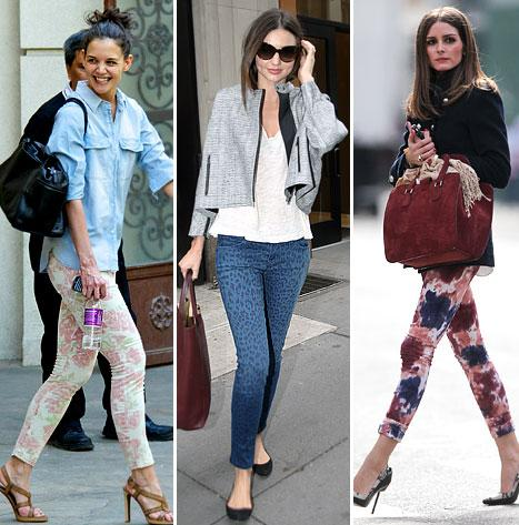 Gwen Stefani, Katie Holmes and More Stars in Patterned Jeans