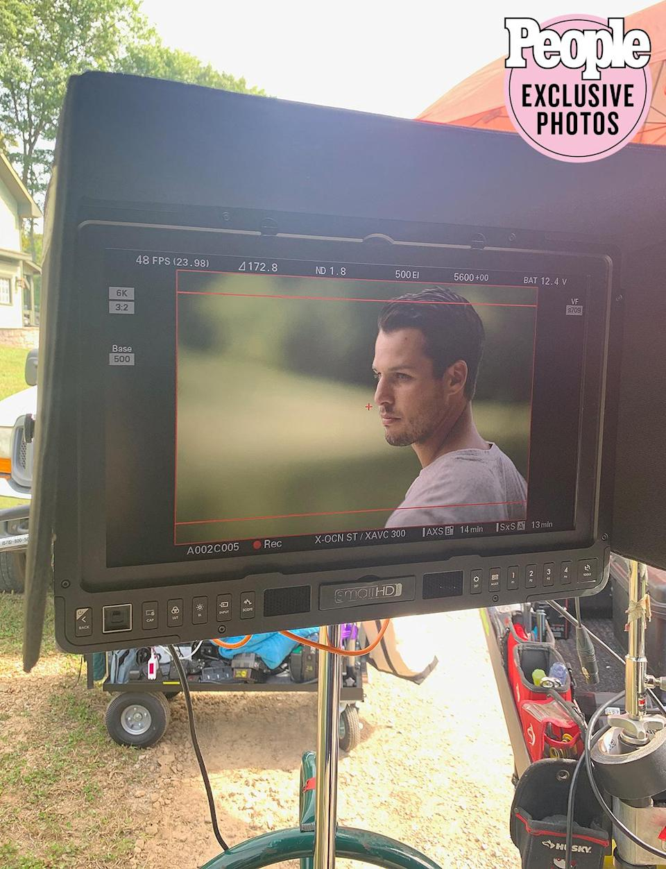 """<p>This was Brendan's first on-camera video shoot with me. """"<a href=""""https://people.com/country/miranda-lambert-brendan-mcloughlin-settling-down-music-video/"""" rel=""""nofollow noopener"""" target=""""_blank"""" data-ylk=""""slk:Settling Down"""" class=""""link rapid-noclick-resp"""">Settling Down</a>"""" was his favorite song from my <em>Wildcard</em> record so it was great we were able to shoot this video together and give fans a glimpse into our life on the farm.</p>"""