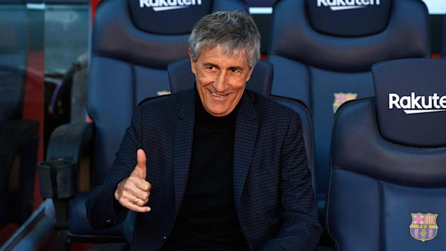 Quique Setien was Barcelona's surprise choice to replace Ernesto Valverde as head coach and he looks to be secure for next season.