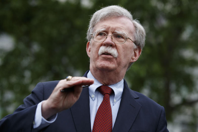National security adviser John Bolton. (Photo: AP/Evan Vucci)