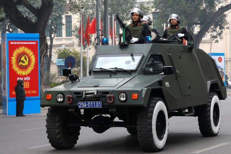 Vietnam tightens security ahead of 13th national congress of ruling communist party in Hanoi