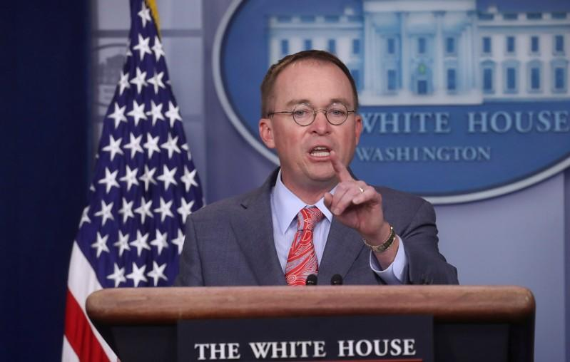 White House's Mulvaney to sue over House impeachment subpoenas