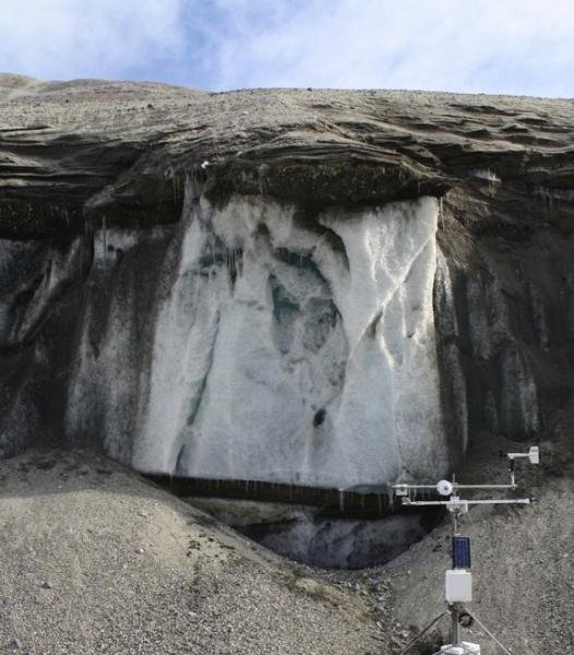 The Garwood Valley ice cliff in Antarctica.