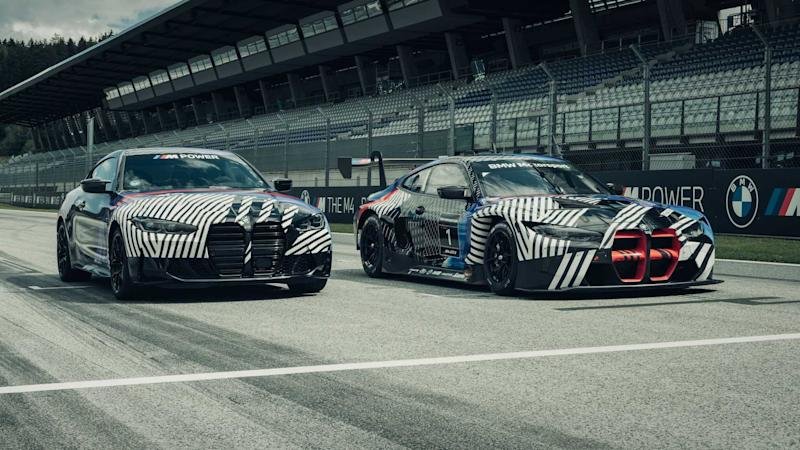 BMW M4 And M4 GT3 Front Three Quarters