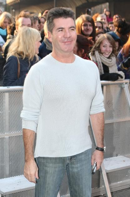 Simon Cowell attends the Britain's Got Talent London auditions day 2 at HMV Hammersmith Apollo on February 7, 2012 -- FilmMagic