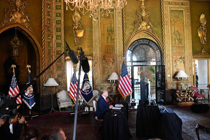 President Donald Trump at Mar-a-Lago in Palm Beach, Florida, on Dec. 24, 2019.