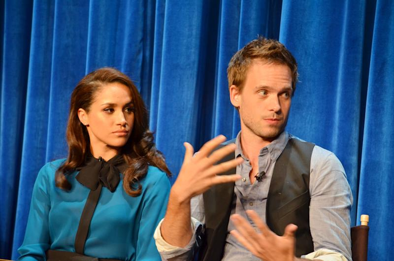 Meghan Markle at a panel for Suits