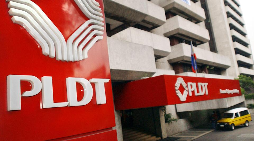 FILE PHOTO: The Philippines Long Distance Telephone Co. (PLDT)  headquarters located in the financial district of Makati, Philippines. (Photo: ROMEO GACAD/AFP via Getty Images)