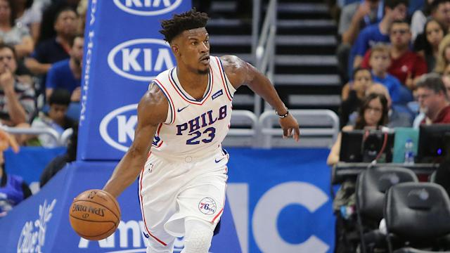 Jimmy Butler kept it cool in his debut with the 76ers. (AP)