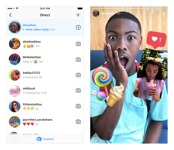 Instagram 10.29 adds photo and video replies to Stories