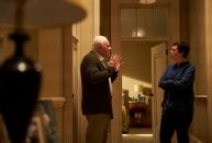 """This image released by Sony Pictures Classics shows Anthony Hopkins, left, and Olivia Colman in a scene from """"The Father."""" (Sean Gleason/Sony Pictures Classics via AP)"""