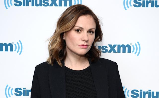 Anna Paquin, on the set of the Build Series NYC in January, had a travel experience that left her in tears. (Photo: Slaven Vlasic/Getty Images)