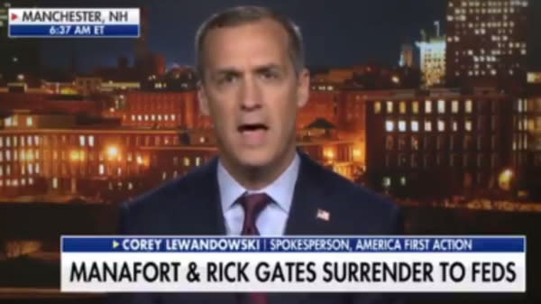 Corey Lewandowski Points Finger At FBI: They Didn't Warn Us About Paul Manafort
