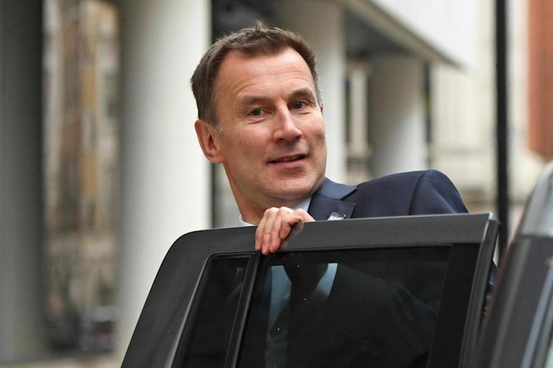 Jeremy Hunt outside BBC Wogan House in London today after he apologised to patients (PA)