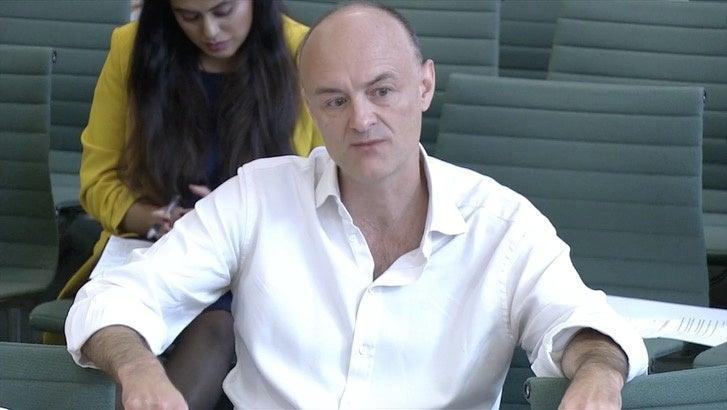 <p>The former advisor to Boris Johnson, Dominic Cummings, appeared at a Health and Social Care Committee hearing on Wednesday</p> (REUTERS)