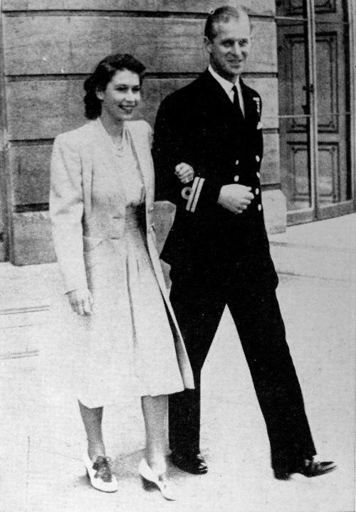 Philip asked King George VI for Elizabeth's hand in marriage in 1946 but the King insisted they postpone the formal engagementunitl she was 21.