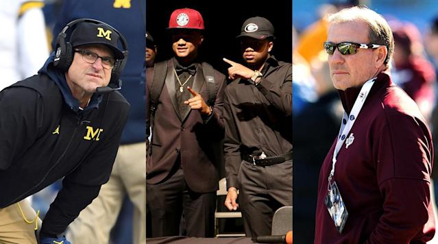 "<p>By the time the first Wednesday of February 2018 arrived, many teams had already filled out the bulk of their recruiting classes. This cycle brought the introduction of an early signing period, a 72-hour window beginning on Dec. 20 in which senior prospects could ink National Letters of Intent. While most of the nation's top players took the opportunity to effectively end their recruitments before Christmas, a good number of highly regarded guys waited until the traditional signing date.</p><p>Below is rundown of some of the day's biggest winners and losers. These assessments are based on what took place on Wednesday, not what unfolded over the course of the entire cycle.</p><p>• <strong><a href=""https://www.si.com/college-football/2018/02/07/national-signing-day-2018-college-football-class-rankings"" rel=""nofollow noopener"" target=""_blank"" data-ylk=""slk:Updated National Signing Day class rankings"" class=""link rapid-noclick-resp"">Updated National Signing Day class rankings</a> 
