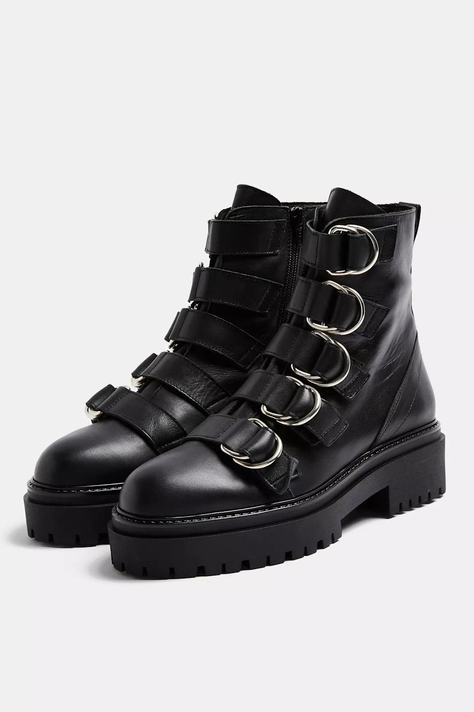<p>I'm obsessed with these <span>Chunky Leather Boots</span> ($120).</p>