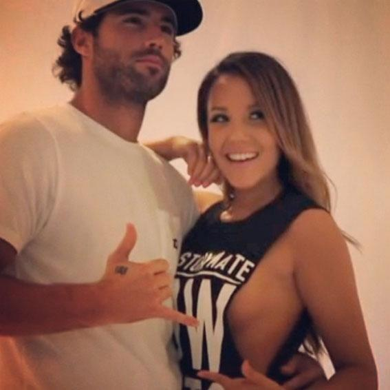Back in 2013 Married At First Sight star Davina Rankin cosied up to Brody Jenner. Source: Instagram/davvyxx