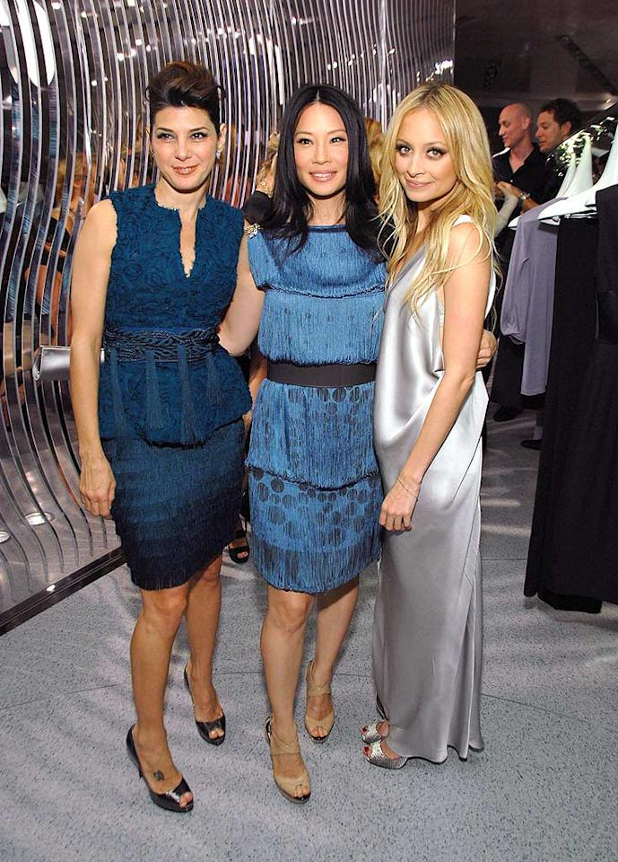 "Marisa Tomei, Lucy Liu, and Nicole Richie arrive at the opening of the Alberta Ferretti flagship store in Los Angeles. The Italian designer is renowned for her draping skills. John Shearer/<a href=""http://www.gettyimages.com/"" target=""new"">GettyImages.com</a> - November 12, 2008"