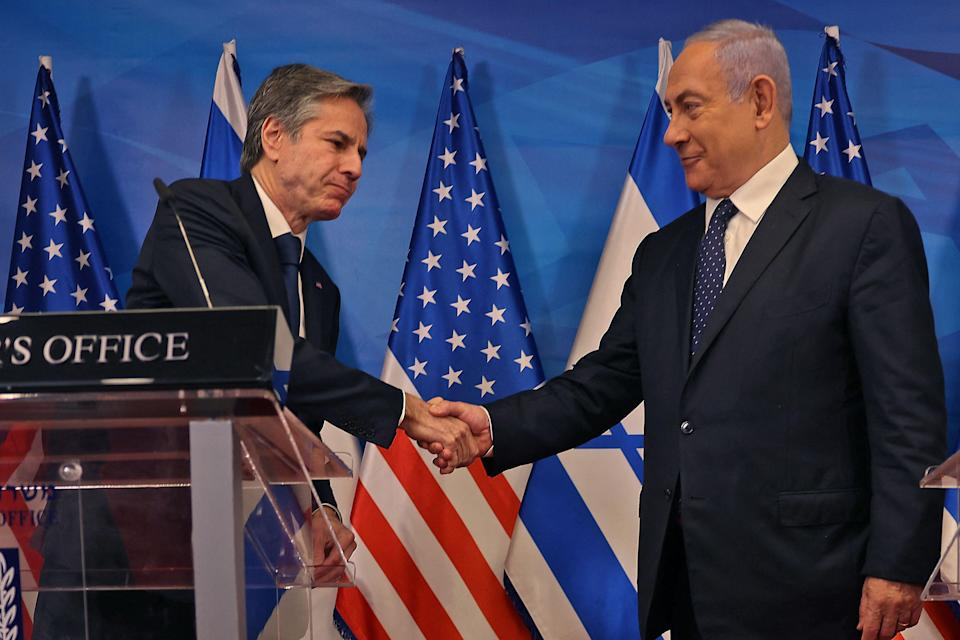 """<p>Antony Blinken vowed to """"rally international support"""" to aid Gaza</p> (AFP via Getty Images)"""