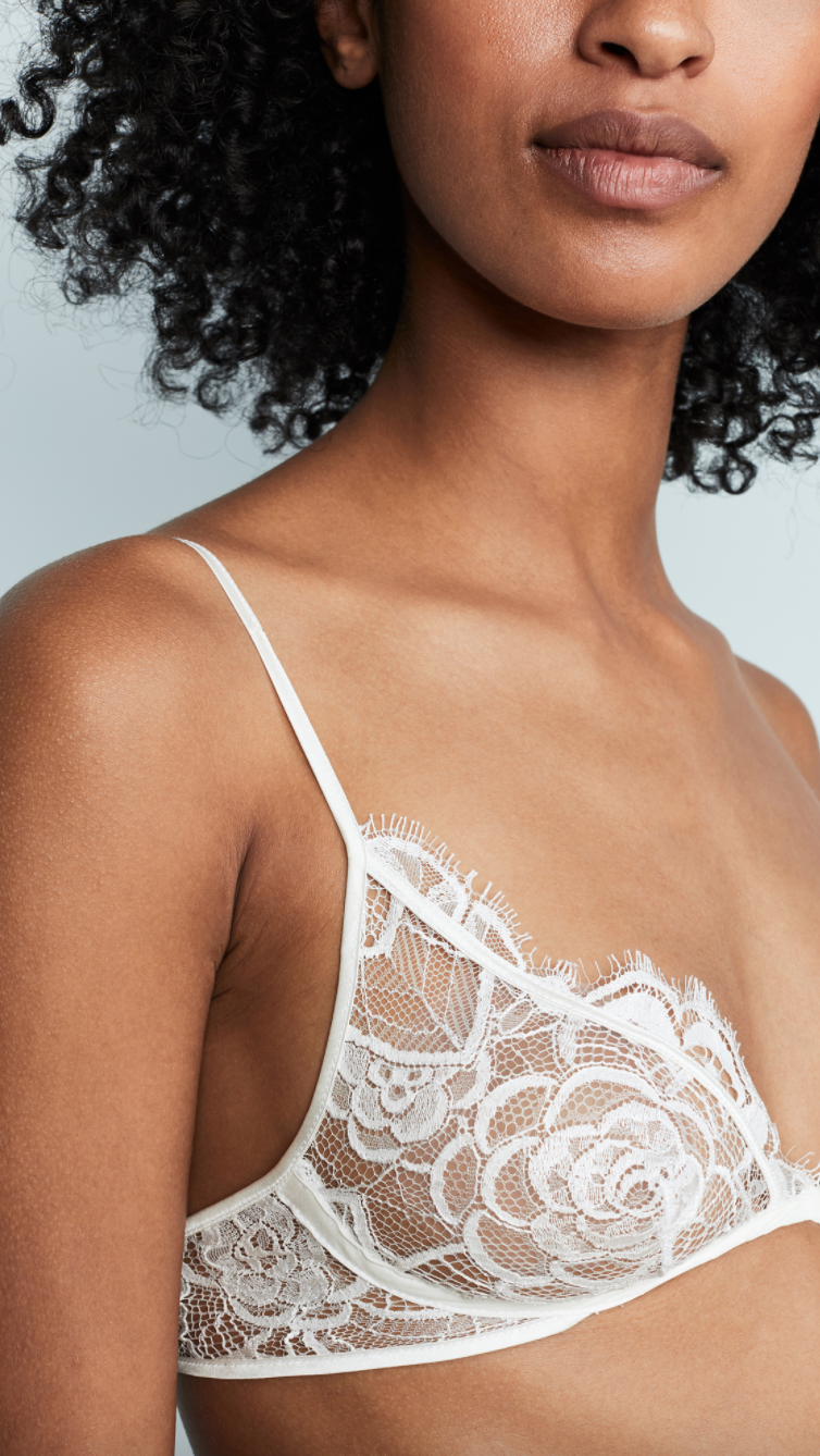 Kiki De Montparnasse 'Coquette' Soft Bra in Ivory (Photo via Shopbop)
