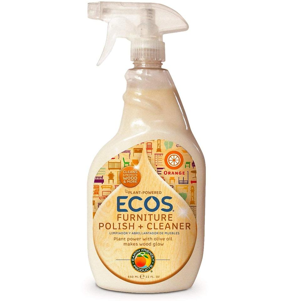 <p>The citrus found in the <span>Earth Friendly Products ECOS Furniture Polish with Olive Oil</span> ($7) penetrates dirt, grease, and grime to bring out your furniture's natural beauty.</p>