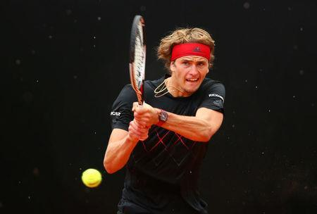 Tennis - ATP World Tour Masters 1000 - Italian Open - Foro Italico, Rome, Italy - May 20, 2018 Germany's Alexander Zverev in action during the final against Spain's Rafael Nadal REUTERS/Tony Gentile