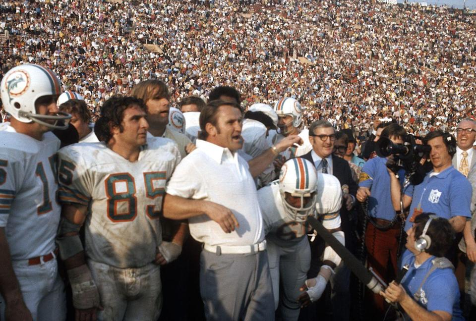 <p>The Miami Dolphins' Super Bowl VII triumph over the Washington Redskins awarded them the honor to be the first and only NFL team to ever complete a perfect, undefeated season.</p>