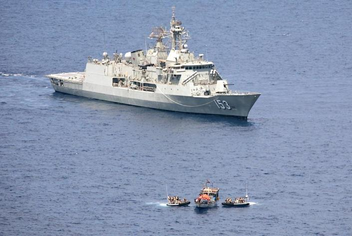 Anti-piracy patrols by international warships and armed guards aboard commercial vessels which continue to chug fast and far past the Somali coast, have suppressed piracy, not stopped it (AFP Photo/)