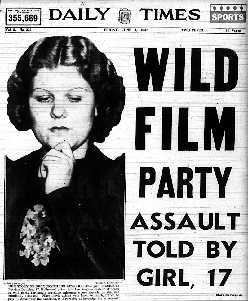 Patricia Douglas, who was actually 20, appears in the media, as depicted in the documentary <i>Girl 27</i>. (Photo: Everett Collection)