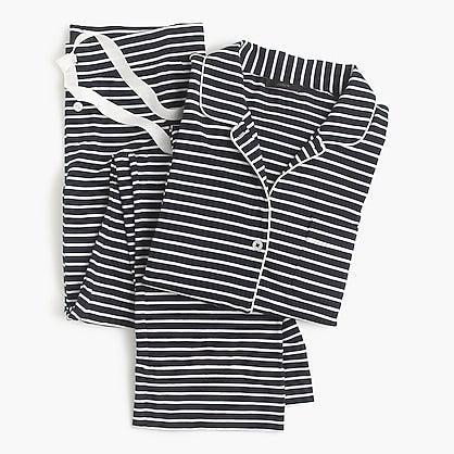 """<h3><a href=""""https://www.jcrew.com/p/womens_feature/the_staying_in_shop/dreamy-cotton-pajama-set-in-stripe/B7341"""" rel=""""nofollow noopener"""" target=""""_blank"""" data-ylk=""""slk:J. Crew Dreamy Cotton Pajama Set"""" class=""""link rapid-noclick-resp"""">J. Crew Dreamy Cotton Pajama Set</a><br></h3><br>As if it doesn't get better than coordinated sleepwear, use J.Crew's customization tool to make this cozy find extra special (note: it'll cost you an extra $10, but for mom, it's definitely worth it!). <br><br><strong>J.Crew</strong> Dreamy Cotton Pajama Set, $, available at <a href=""""https://go.skimresources.com/?id=30283X879131&url=https%3A%2F%2Fwww.jcrew.com%2Fp%2Fwomens_feature%2Fthe_staying_in_shop%2Fdreamy-cotton-pajama-set-in-stripe%2FB7341"""" rel=""""nofollow noopener"""" target=""""_blank"""" data-ylk=""""slk:J.Crew"""" class=""""link rapid-noclick-resp"""">J.Crew</a>"""