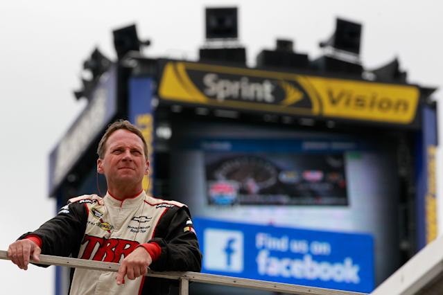 Had the 2012 Daytona 500 been called after Juan Pablo Montoya hit a jet drier, Dave Blaney would be a Cup Series winner. (Getty Images)