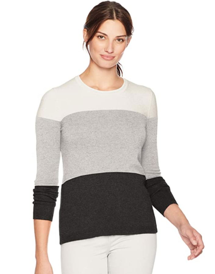 Lark & Ro Women's Crewneck Pullover Cashmere Sweater (Photo: Amazon)
