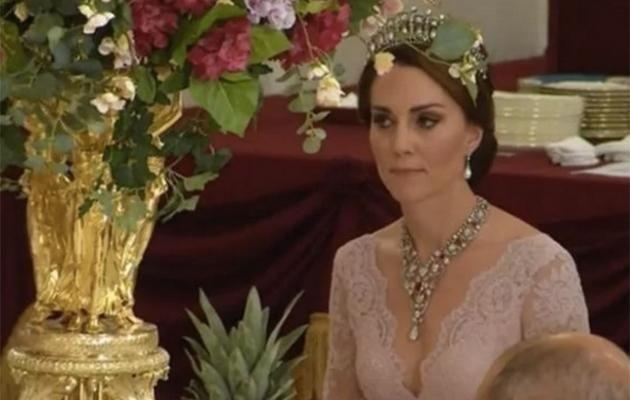 Kate Middleton wears Marchesa