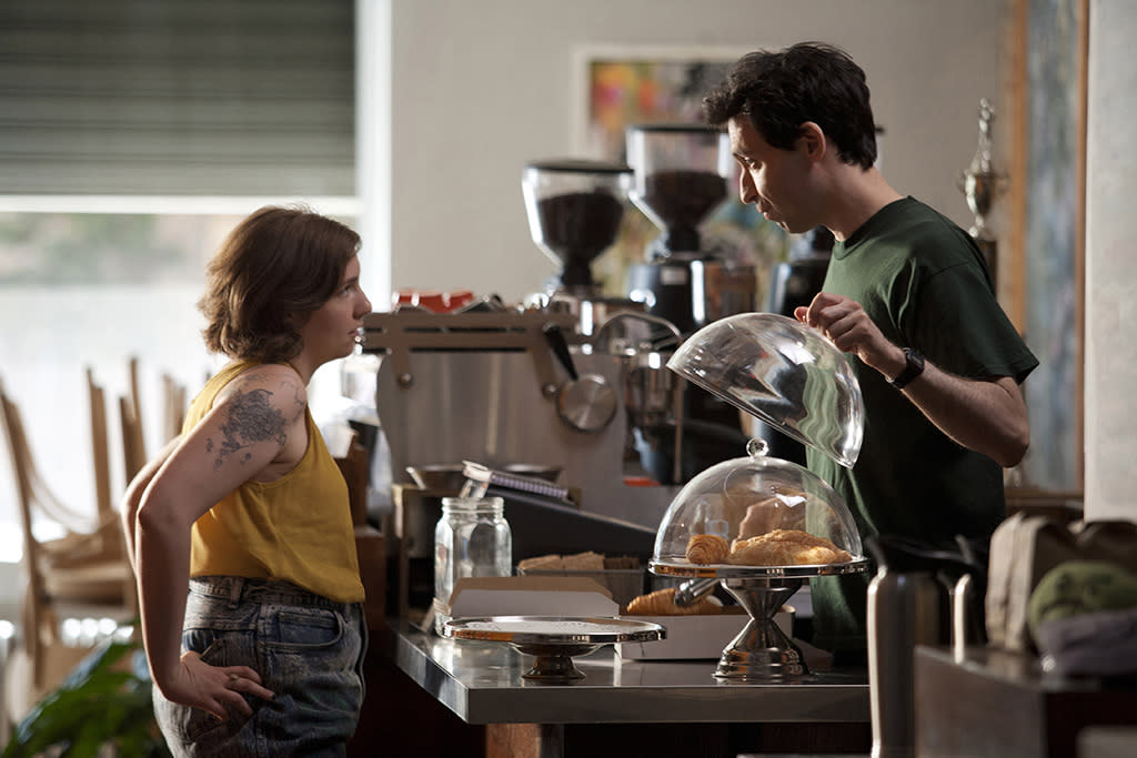 """Lena Dunham and Alex Karpovsky in the """"Girls"""" Season 2 episode, """"It's About Time."""""""