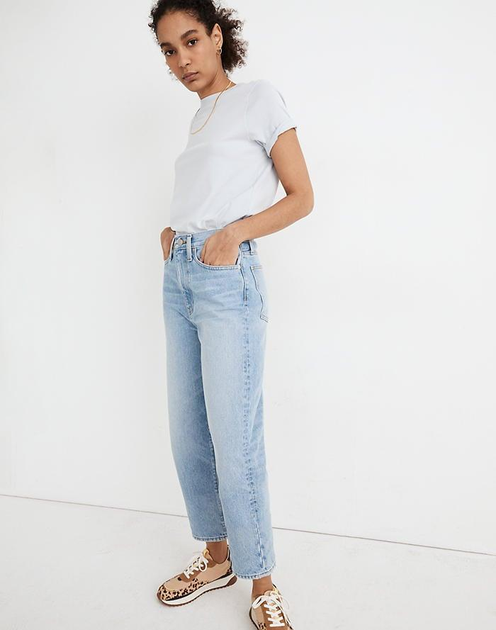<p>For those who can't get enough of the cozy, relaxed fit of wide-leg jeans, we highly recommend this pair of light-wash <span>Madewell Balloon Jeans</span> ($118).</p>