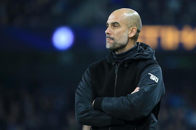 Pep Guardiola's Manchester City are heavy favorites but must be careful facing rival Manchester United at home. (Photo by Tom Flathers/Manchester City FC via Getty Images)