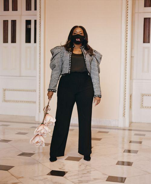 PHOTO: Rep. Cori Bush, D-Missouri, is photographed inside a Congressional office building on April 1, 2021. (Tyra Mitchell for ABC News)