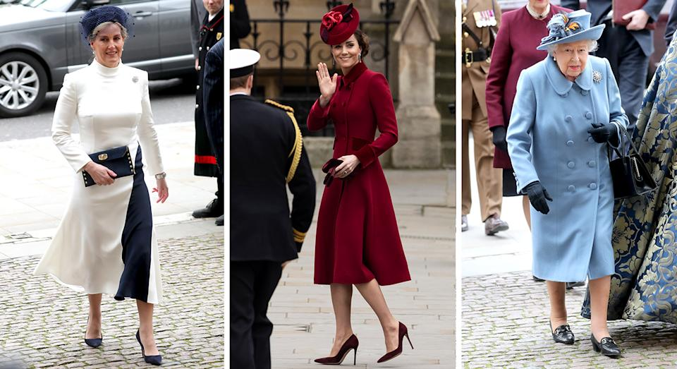 The Countess of Wessex, Duchess of Cambridge and Her Majesty The Queen also attended the service. (Getty Images)