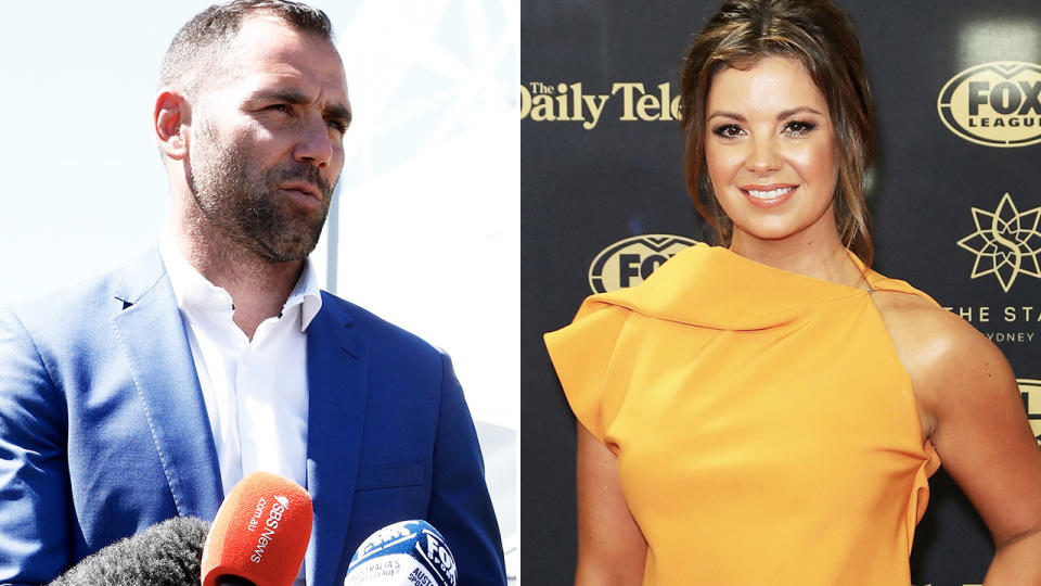Yvonne Sampson and Cameron Smith, pictured here in the NRL world.