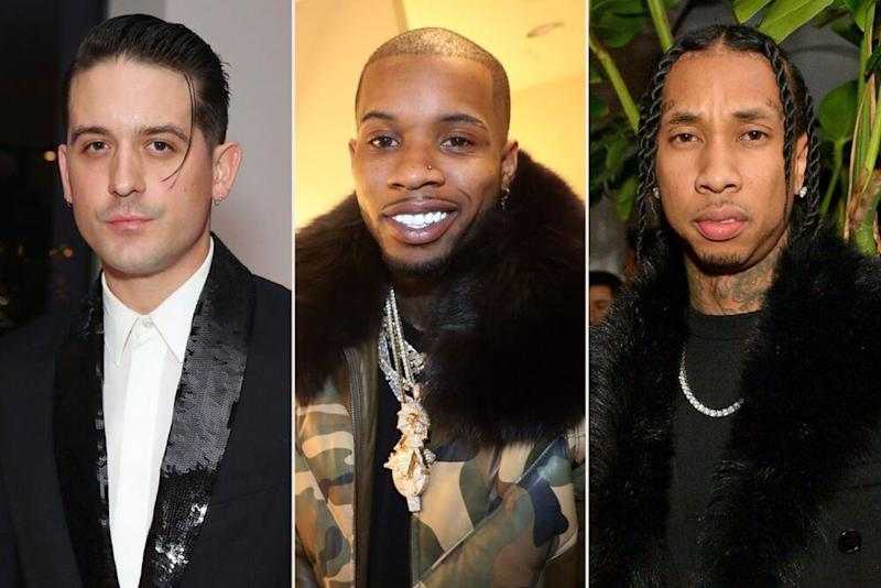 G-Eazy, Tory Lanez, Tyga | Joe Scarnici/Getty; Johnny Nunez/WireImage; Matt Winkelmeyer/Getty