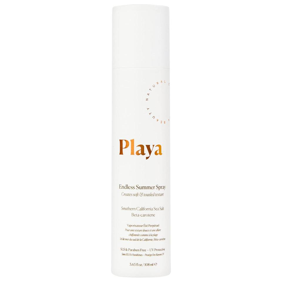 """<p><strong>Playa</strong></p><p>sephora.com</p><p><strong>$24.00</strong></p><p><a href=""""https://go.redirectingat.com?id=74968X1596630&url=https%3A%2F%2Fwww.sephora.com%2Fproduct%2Fendless-summer-spray-P431831&sref=https%3A%2F%2Fwww.cosmopolitan.com%2Fstyle-beauty%2Fbeauty%2Fg33473200%2Fbest-organic-hair-products%2F"""" rel=""""nofollow noopener"""" target=""""_blank"""" data-ylk=""""slk:Shop Now"""" class=""""link rapid-noclick-resp"""">Shop Now</a></p><p>This is definitely one of the best <a href=""""https://www.cosmopolitan.com/style-beauty/beauty/g27442711/salt-spray-hair/"""" rel=""""nofollow noopener"""" target=""""_blank"""" data-ylk=""""slk:salt sprays"""" class=""""link rapid-noclick-resp"""">salt sprays</a> I've ever tried—conventional or organic. A few spritzes <strong>give hair that perfectly imperfect beachy texture,</strong> but never feels stiff or crunchy. And the scent (a blend of coconut, orange blossom, and sandalwood) is straight-up delicious.</p>"""