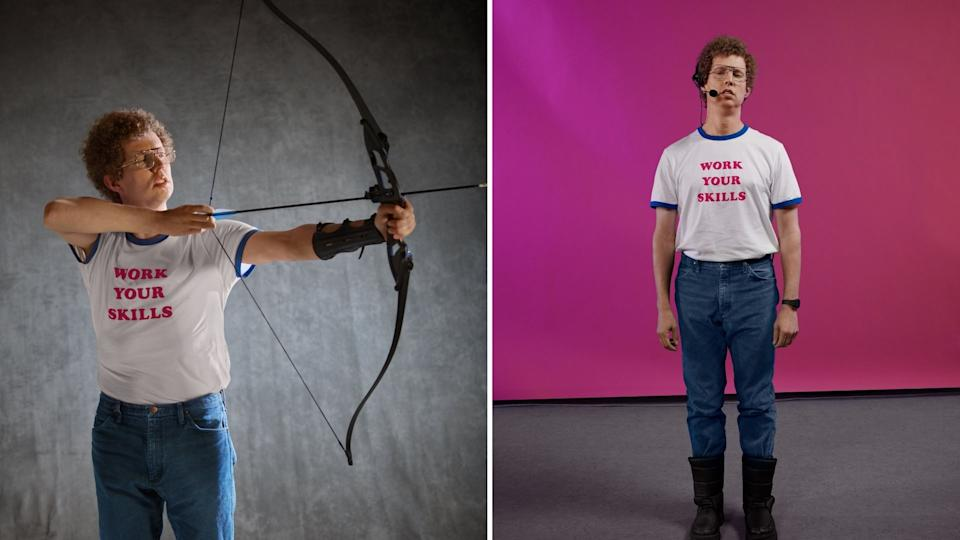 Jon Heder poses in character as Napoleon Dynamite.