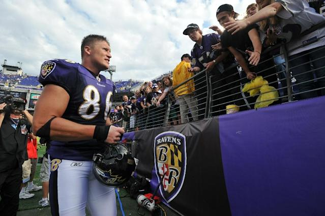 Todd Heap played 10 seasons with the Ravens after being selected in the first round of the 2001 NFL Draft (AFP Photo/Larry French)