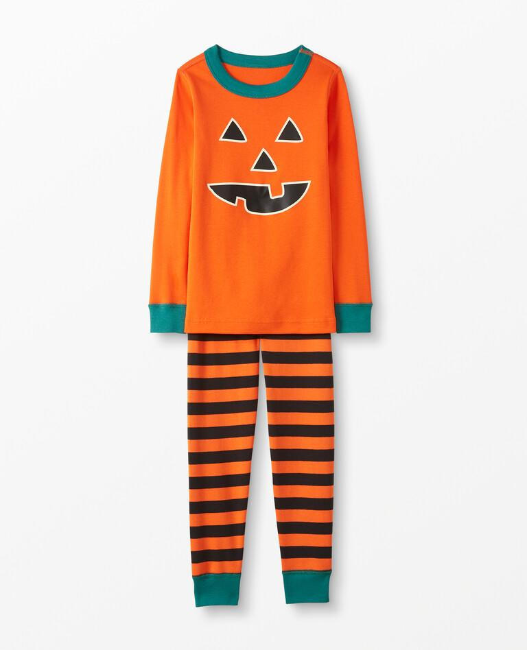 Pumpkin Long John Pajamas In Organic Cotton. Image via Hanna Andersson.